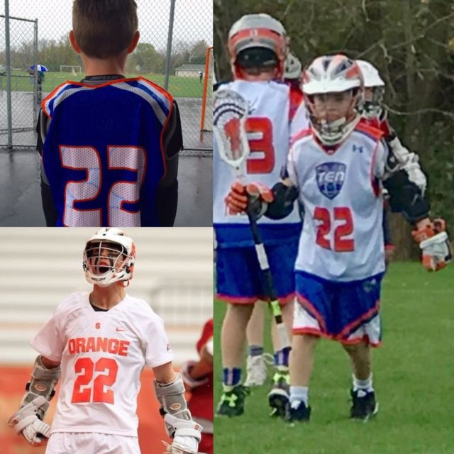 TeamTEN 2025 Orange player  Holt wears 22 bc hishellip